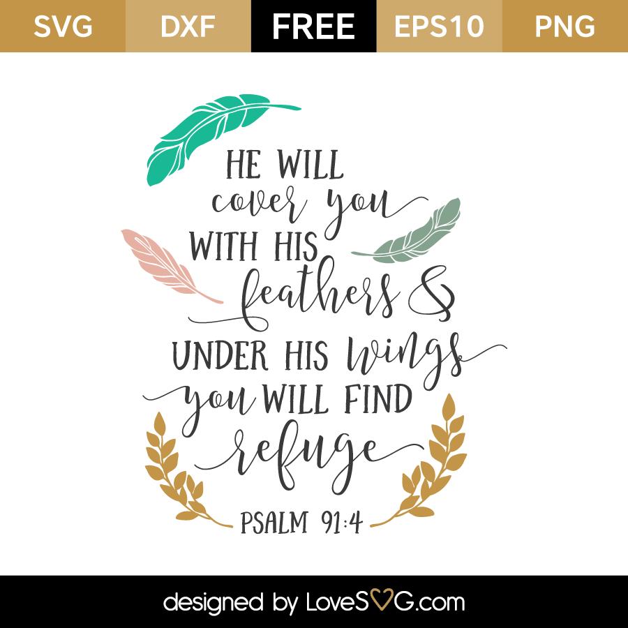 Psalm 91 4 Lovesvg Com