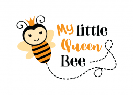Free SVG cut file - My Little Queen Bee