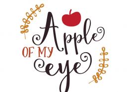 Free SVG cut files - Apple of my Eye