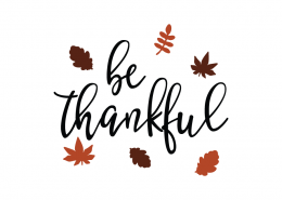 Free SVG cut files - Be Thankful