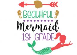 Free SVG cut files - Beautiful Mermaid School