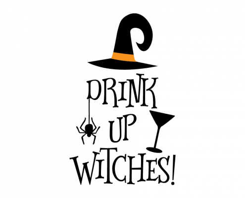 Free SVG cut files - Drink Up Witches