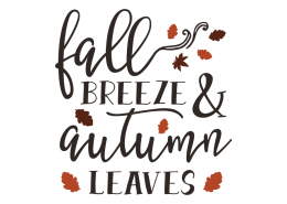 Free SVG cut files - Fall Breeze Autumn Leaves