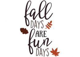 Free SVG cut files - Fall Days are Fun Days