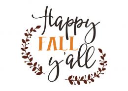 Free SVG cut files - Happy Fall Y'all