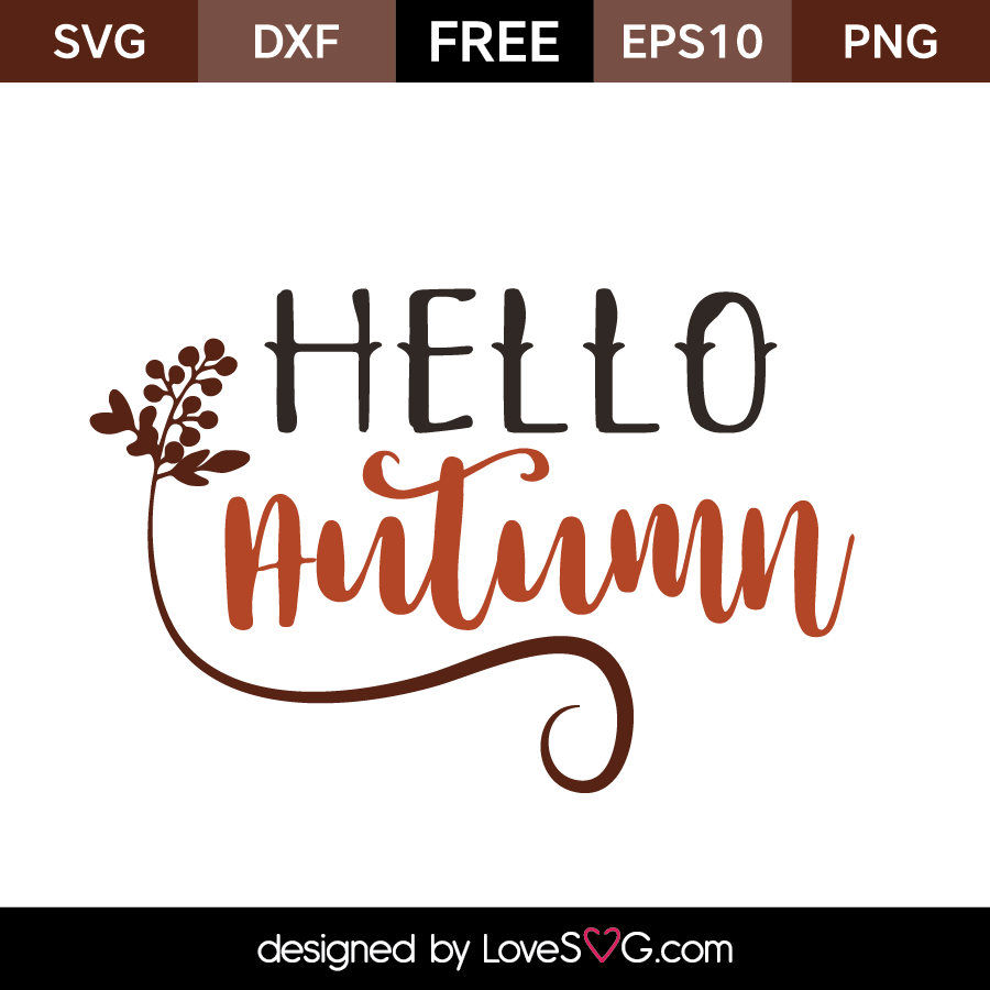 Free SVG cut files - Hello Autumn