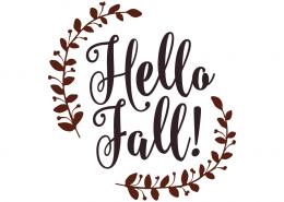 Free SVG cut files - Hello Fall