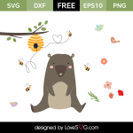 Free SVG cut files - Honey Bear