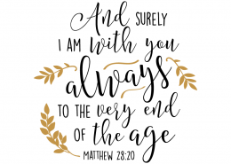 Free SVG cut files - Matthew 28:20