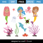 Free SVG cut files - Mermaids