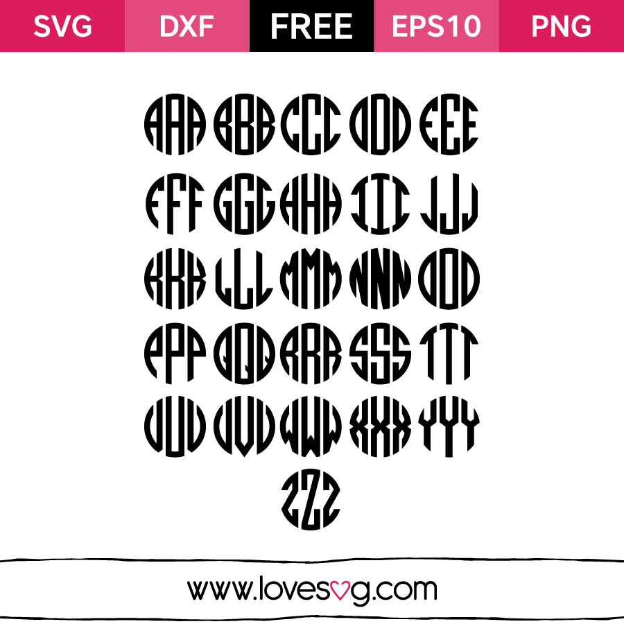 Love Fishing Quotes Monogram Love Svg Font  Lovesvg