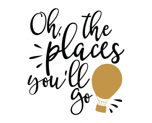 Free SVG cut files - Oh, The Place you'll Go