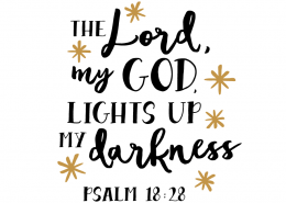 Free SVG cut files - Psalm 18:28