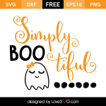 Free SVG cut files - Simply Boo Tiful