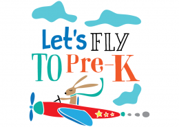 Free SVG files - Let's fly to Pre-K