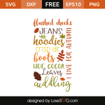Free SVG cut files - Autumn Subway Word Art