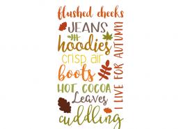 Free SVG cut files - Autumn Subway Word Art