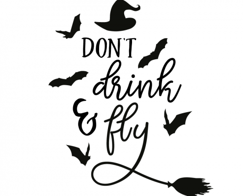 Free SVG cut file - Don't Drink & Fly