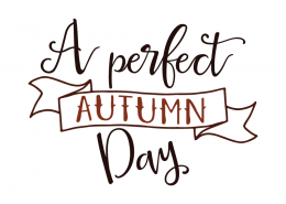 Free SVG cut file - A perfect Autumn Day