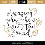 Free SVG cut file - Amazing Grace
