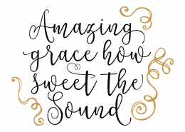 Free SVG cut file - Amazing Grace