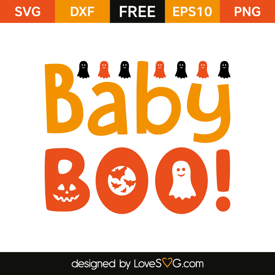 Free SVG cut file - Baby Boo