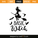 Free SVG cut file - Basic Witch