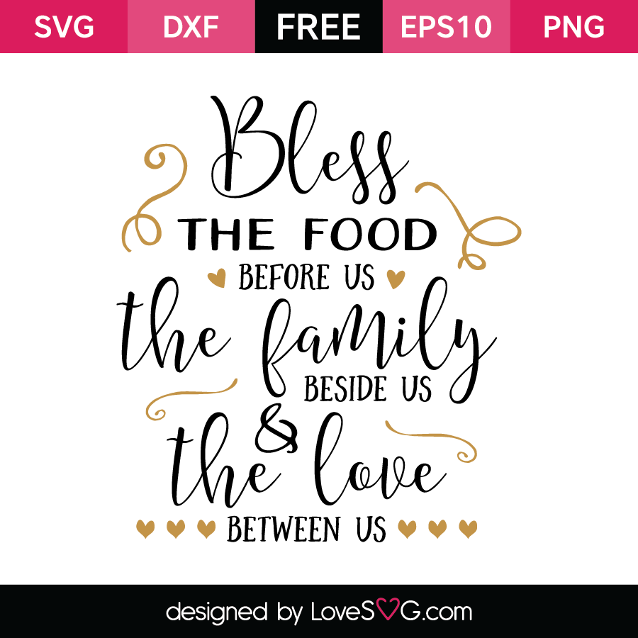 Free SVG cut file - Bless the food