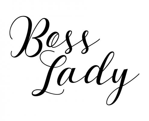Free SVG cut file - Boss Lady