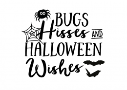 Free SVG cut file - Bugs Hisses & Halloween Wishes