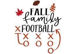 Free SVG cut files - Fall Family Football
