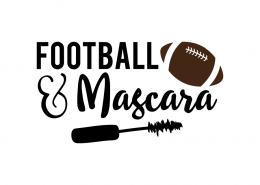 Free SVG cut files - Football and Mascara