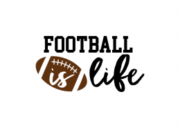 Free SVG cut file - Football is Life