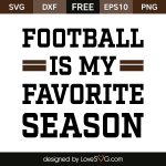 Free SVG cut files - Football is my Favorite Season