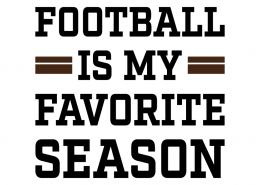 Free SVG cut files - Football is my Favorite Season