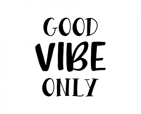 Free SVG cut file - Good Vibe Only