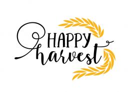 Free SVG cut file - Happy Harvest