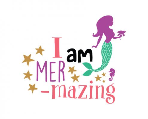 Free SVG cut file - I am Mer-Mazing