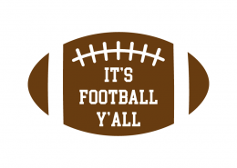 Free SVG cut file - It's Football Y'all