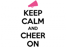 Free SVG cut file - Keep Calm and Cheer On