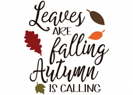 Leaves are falling Autumn is Calling - Free Autumn Fall SVG cut files