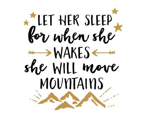 Free SVG cut file - Let her Sleep