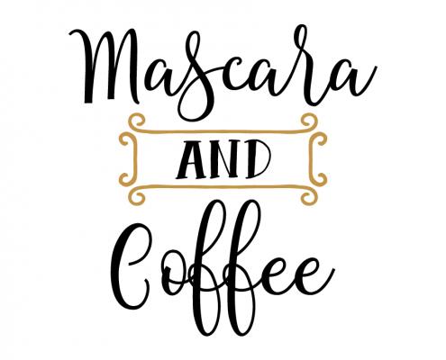 Free SVG cut file - Mascara and Coffee