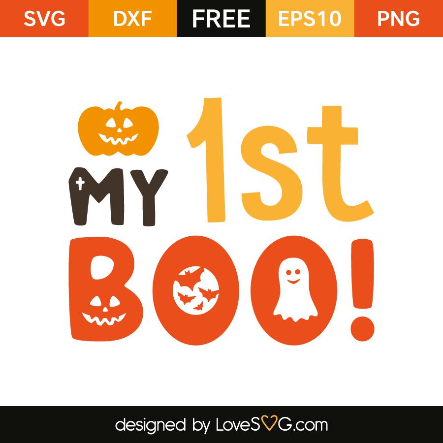 free svg cut file my 1st boo