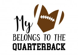 Free SVG cut file - My Heart Belongs to the Quaterback