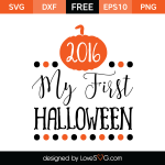 Free SVG cut file - My first Halloween