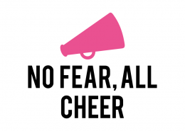 Free SVG cut file - No Fear, All Cheer