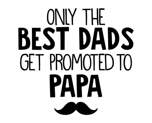 Free SVG cut file - Only the Best Dads Get Promote to Papa