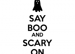 Free SVG cut file - Say Boo & Scary on