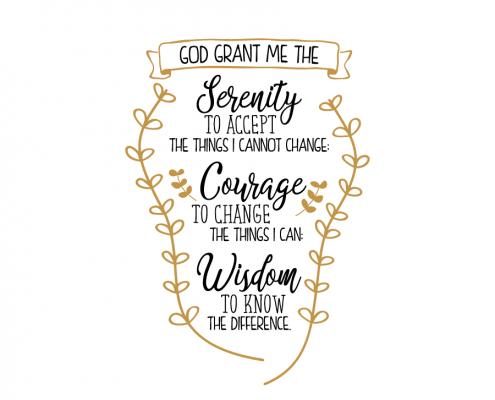 Serenity Prayer - Short version